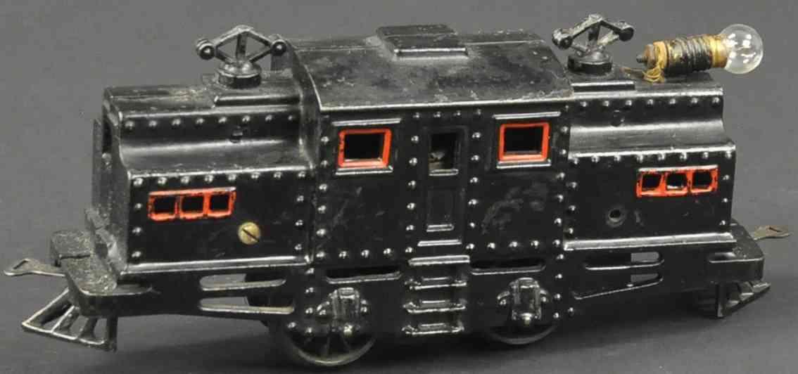 bing 523/540 eisenbahn amerikanische vollbahnlokomotive gusseisen schwarz spur 0