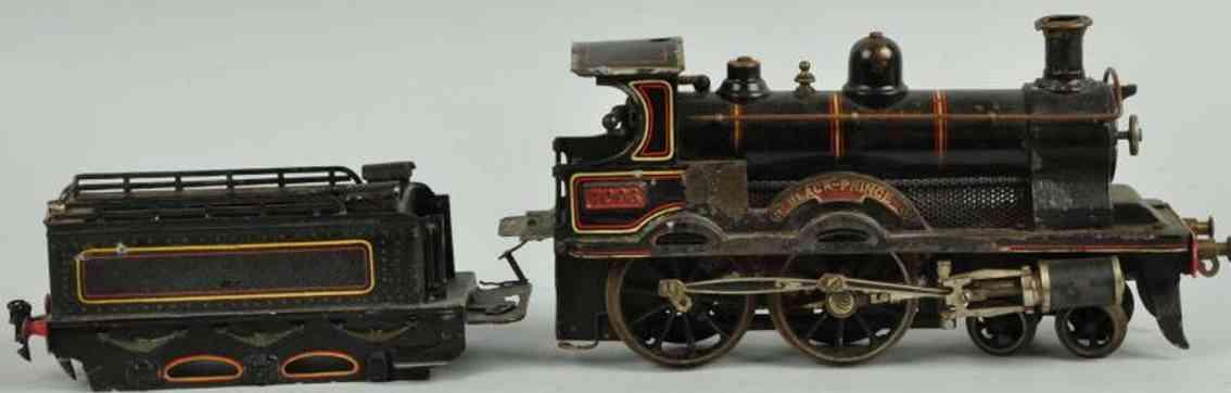 bing 33593/1 eisenbahn englische spiritusdampflokomotive tender schwarz spur 1