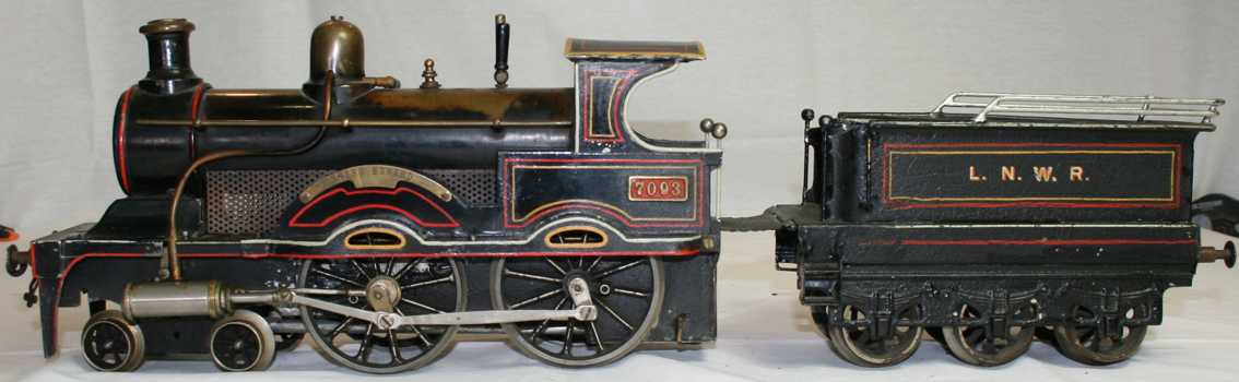bing 33593/3 king edward railway toy engine live steam locomotive black gauge 3