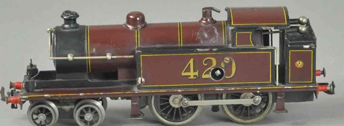 bing 420 eisenbahn uhrwerkdampflokomotive braun spur 0