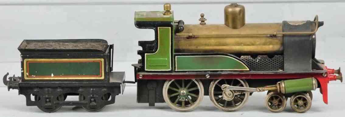 bing 440 spielzeug eisenbahn englische lokomotive tender gruen schwarz spur 1