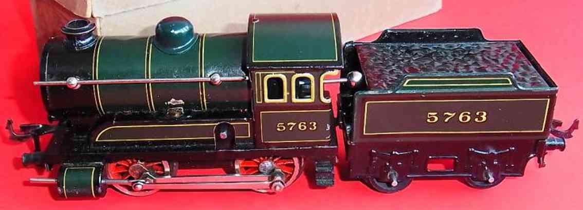 bing 5763 railway toy engine clockwork-locomotive with tender gauge 0