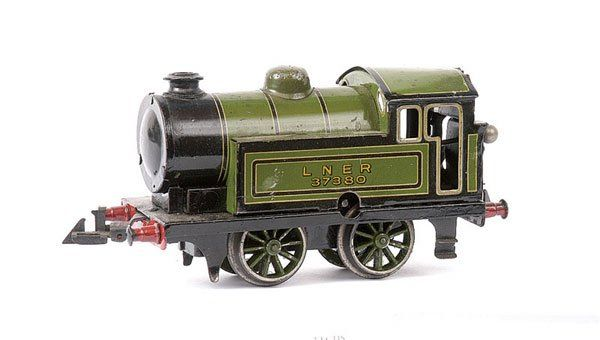 bing 61/4738 railway toy engine english clockwork locomotive green black gauge 0