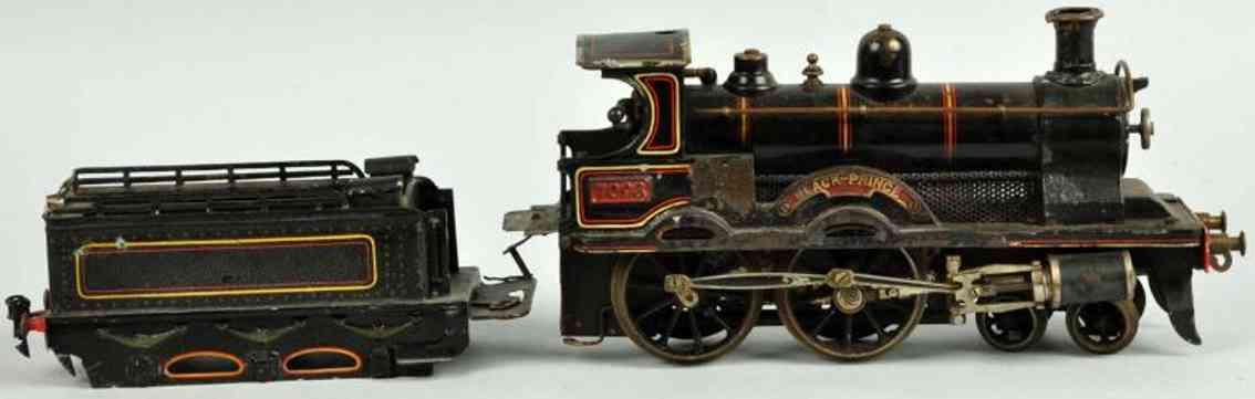 bing 7093 eisenbahn englische spiritus-dampflokomotive tender black prince spur 1