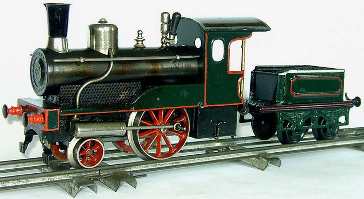 bing 8373 railway toy engine spirit steam locomotive green gauge 1