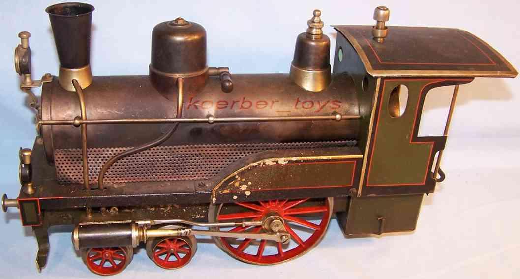 bing 8373/4 railway toy engine storchenbein spirit steam locomotive green black gauge 4