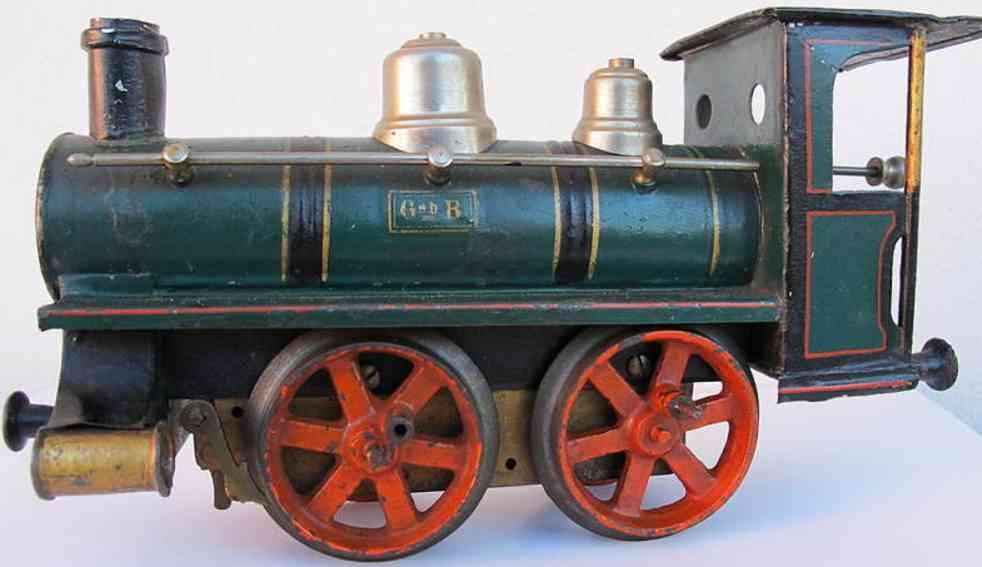 bing 8388 spielzeug eisenbahn uhrwerk-dampflokomotive gruen schwarz spur 1