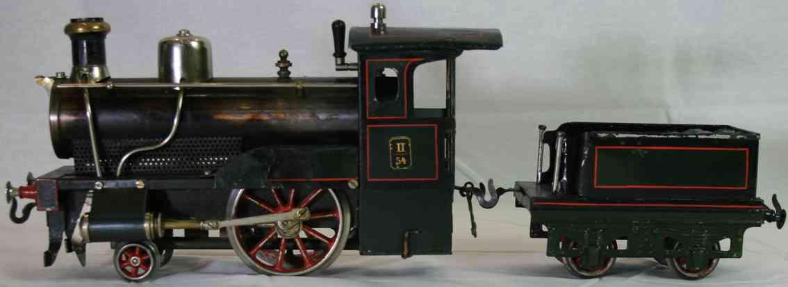bing 9642/2 railway toy engine spirit steam locomotive black gauge 2