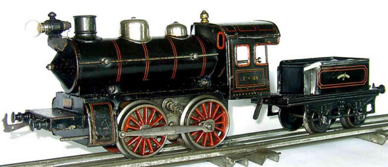 Bing Starkstrom Dampflokomotive mit Handumschaltung