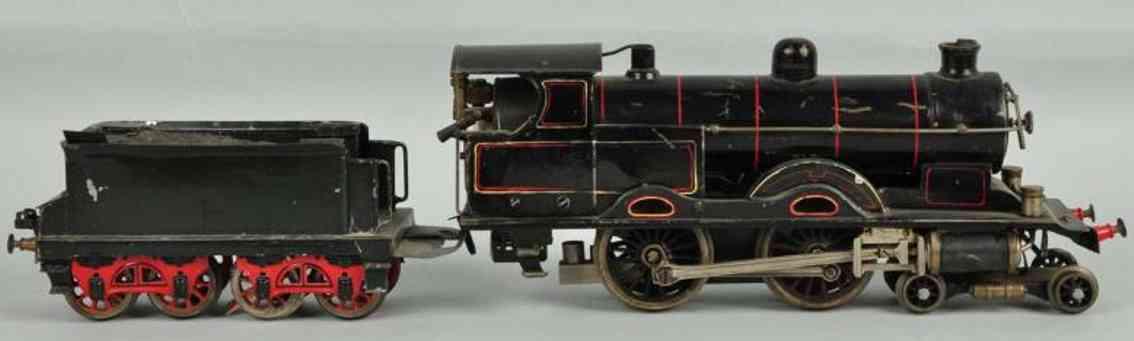 bing spielzeug eisenbahn englische spiritusdampflokomotive mit tender spur 1