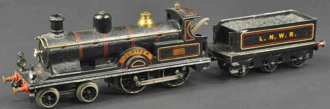bing Jupiter 1975 lokomotive englische uhrwerk-lokomotive schwarz spur 1