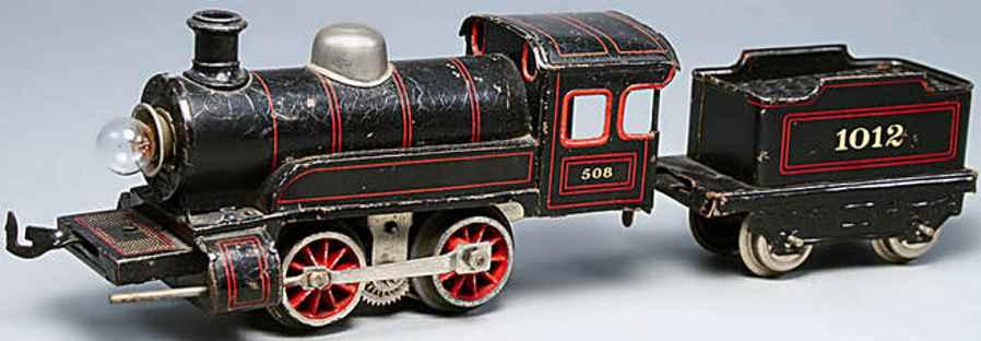 bing railway toy engine hand-coated electrical locomotive black gauge 0