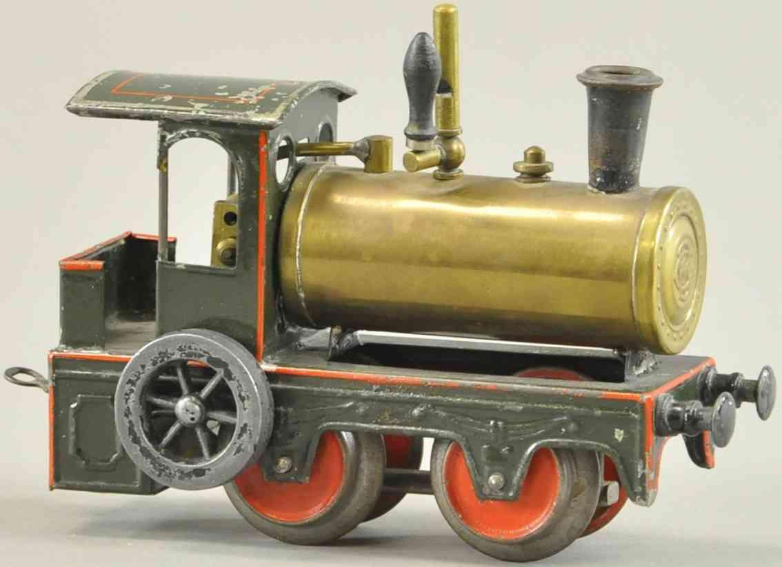 bing eisenbahn spiritus-dampflokomotive vertikaler kolben spur 0