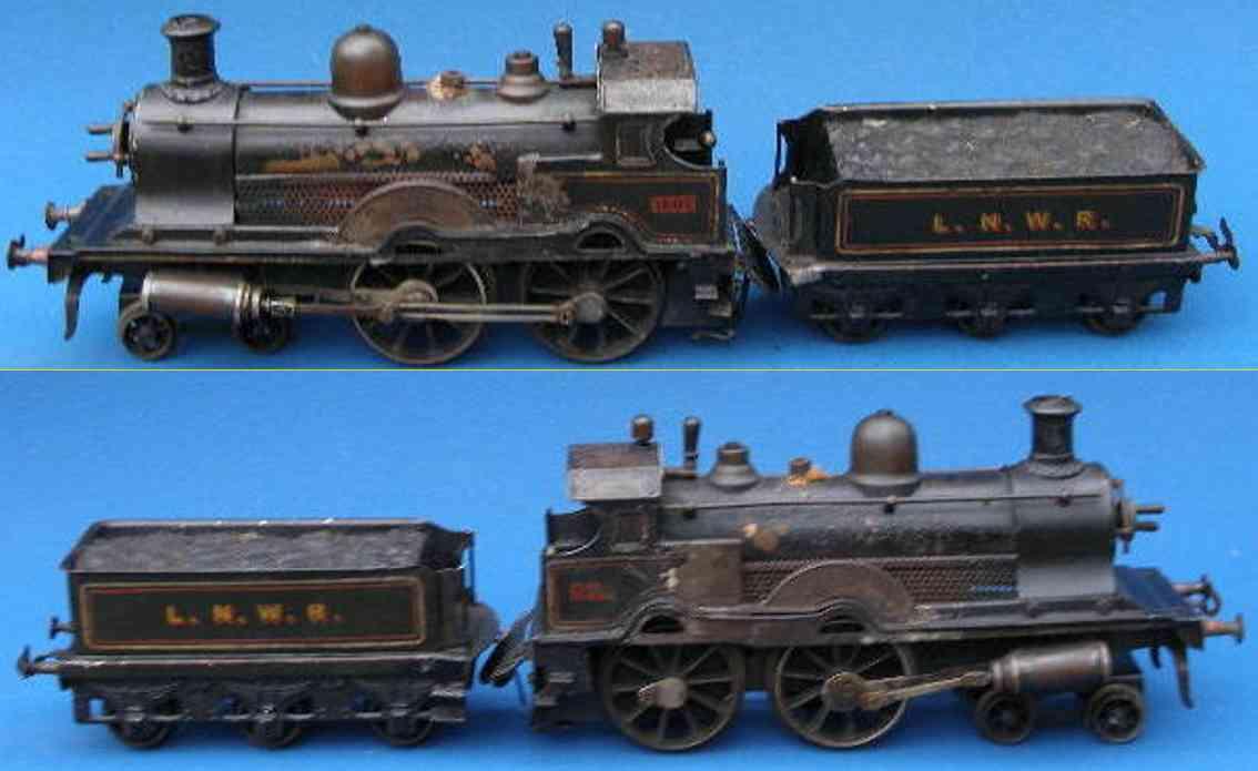 bing spielzeug eisenbahn echtdampflokomotive mit tender spur 1