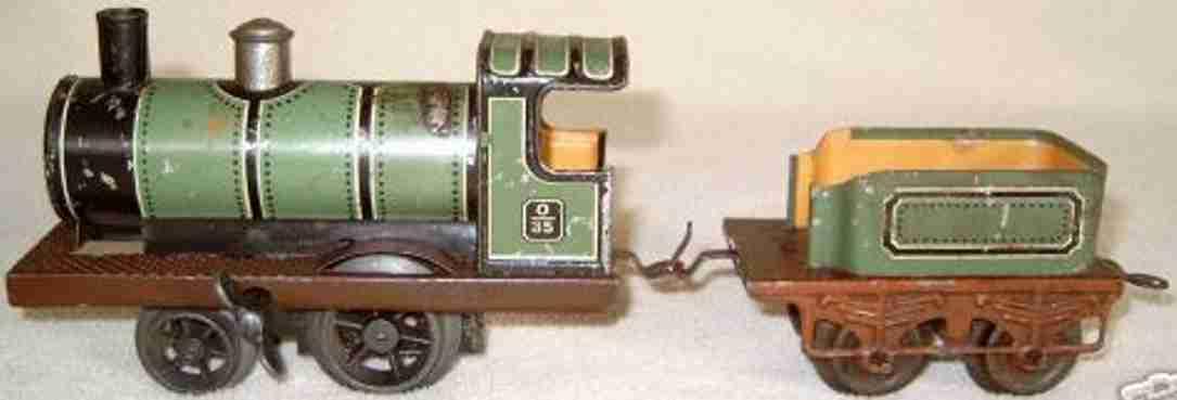 Bing Uhrwerk-Dampflokomotive