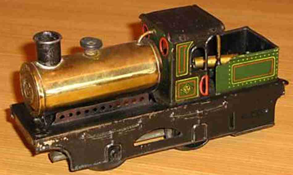 bing spielzeug eisenbahn spiritus-dampflokomotive spur 0