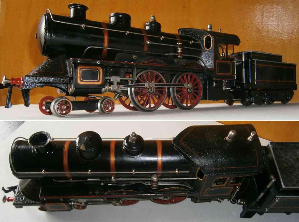 bing spielzeug eisenbahn spiritus-dampflokomotive mit tender spur 1