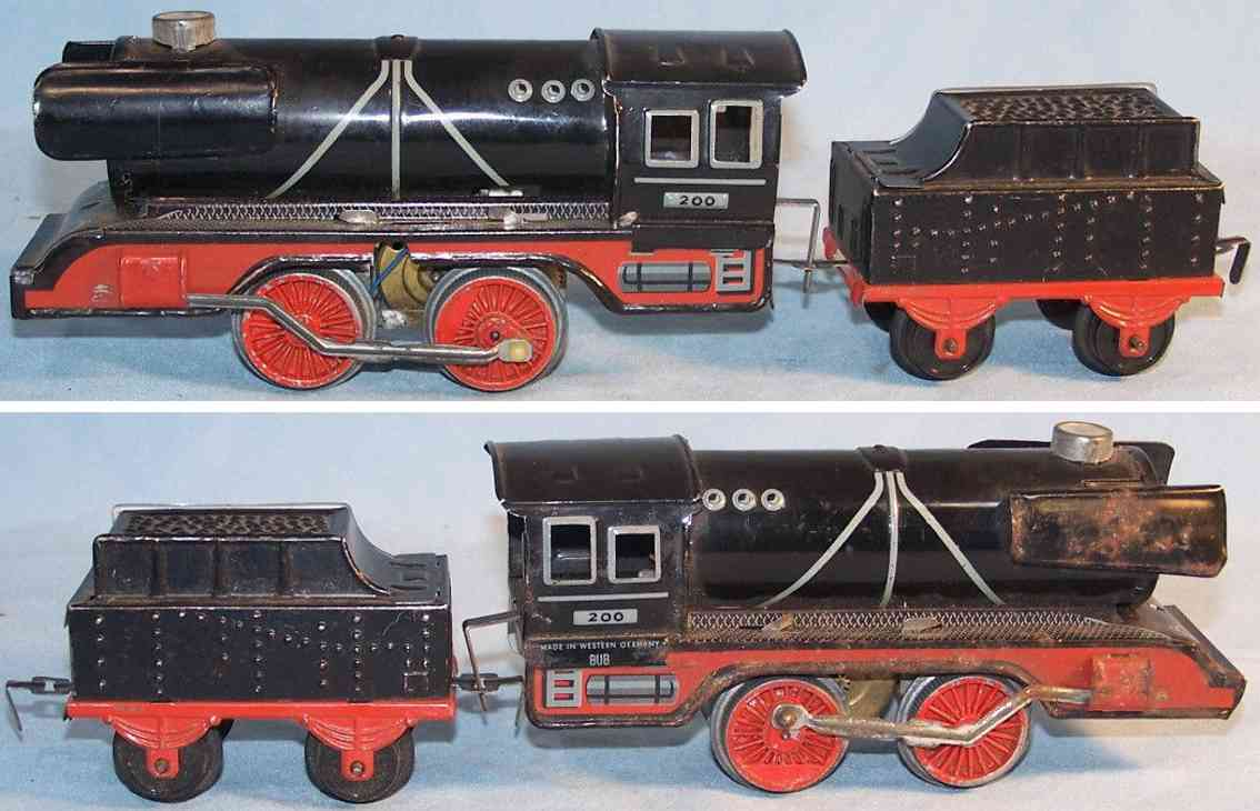 bub 200 spielzeug eisenbahn elektrische dampflokomotive mit tender spur 0