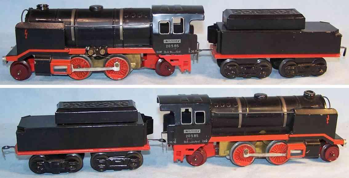 bub 20585 spielzeug eisenbahn lokomotive 18 volt dampflokomotive spur 0