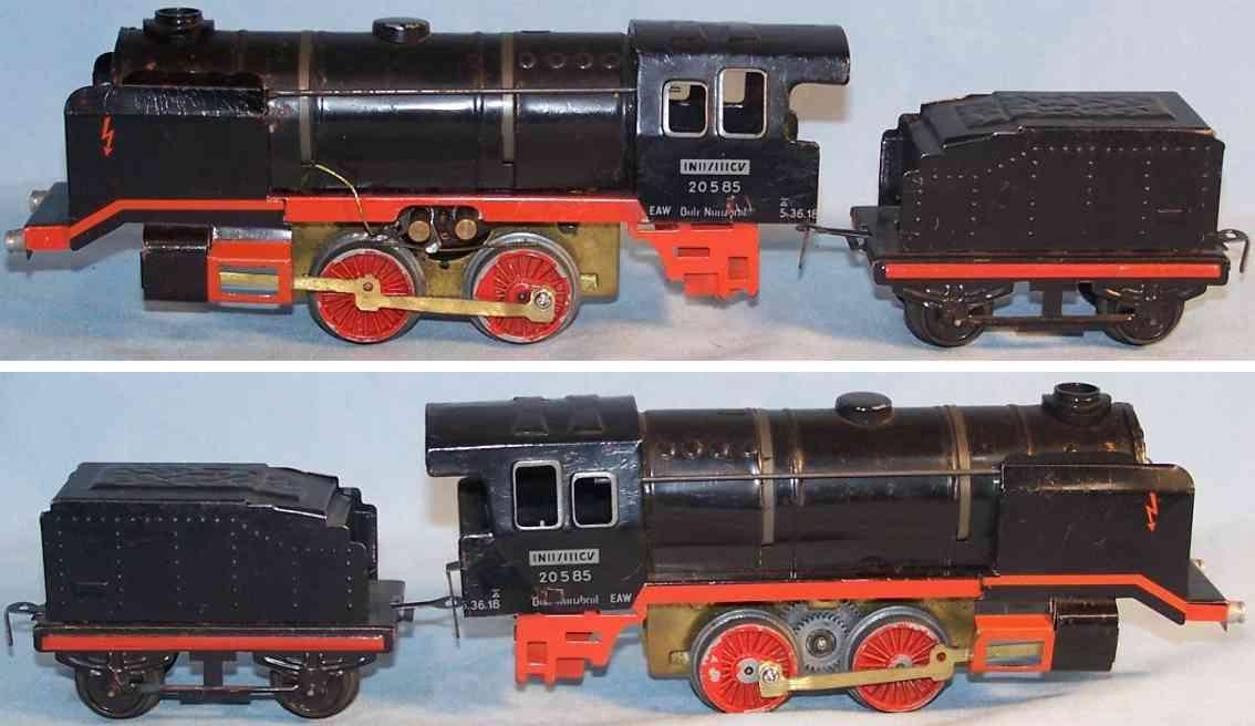 bub 210 spielzeug eisenbahn dampflokomotive 20585 tender spur 0