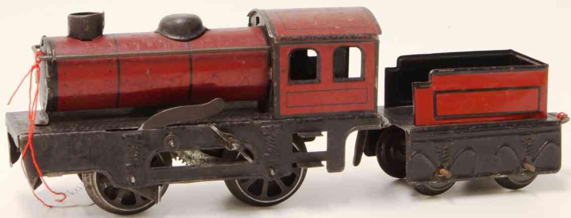 karl bub 370 lt spielzeug eisenbahn uhrwerk-dampflokomotive tender spur 0