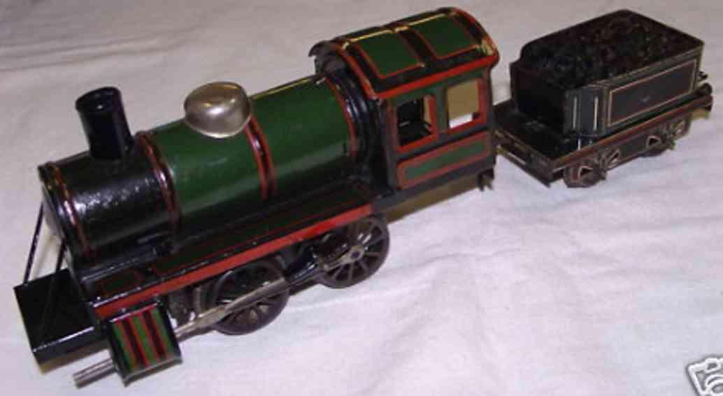 bub 413 lt spielzeug eisenbahn dampflokomotive gruen schwarz spur 0