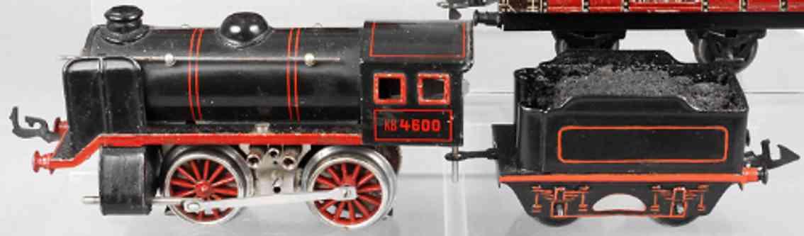 karl bub 4600 railway toy engine clockwork steam locomotive gauge 0