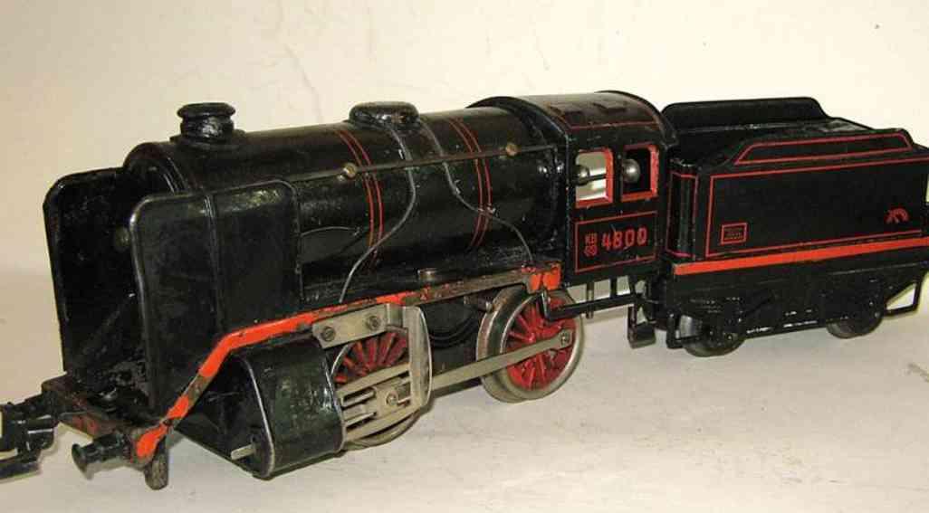 bub 4800 spielzeug eisenbahn uhrwerk-dampflokomotive spur 0