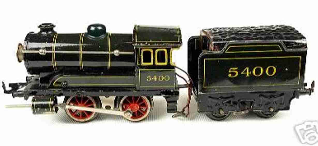 bub 5400 spielzeug eisenbahn schlepptender dampflokomotive spur 0