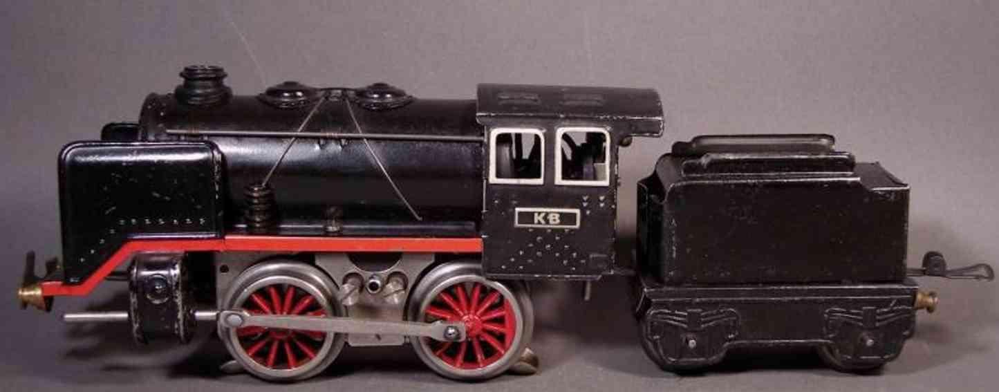 bub 8260/18 railway toy engine steam locomotive 18 volts gauge 0