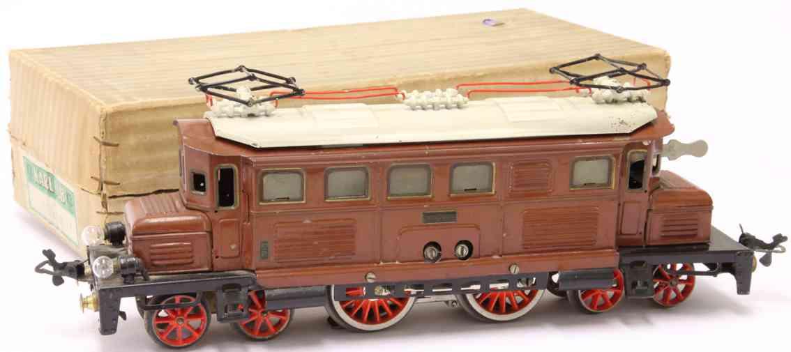 karl bub 91180/18 braun spielzeug eisenbahn 18 volt vollbahnlokomotive braun spur 0