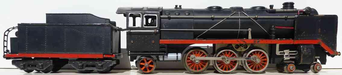 bub 91270/18 spielzeug eisenbahn dampflokomotive mit tende 15 volt spur 0
