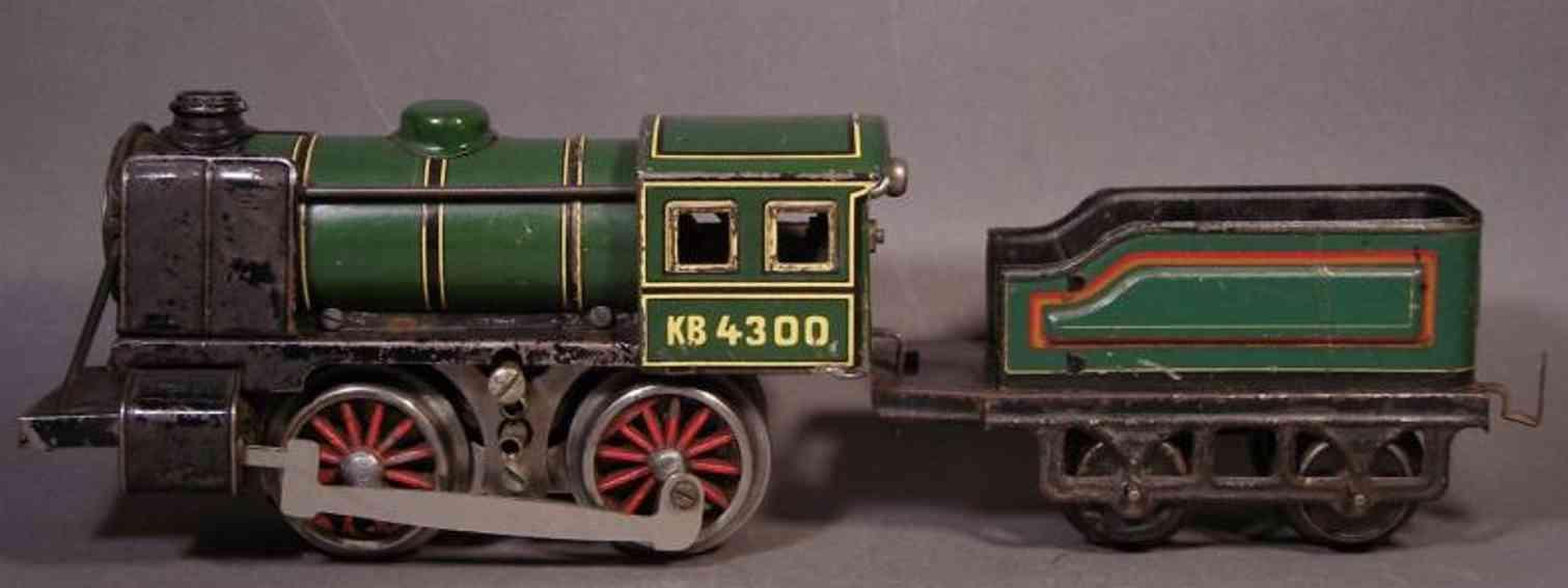bub 9300/18 railway toy 18 volts engine steam locomotive gauge 0