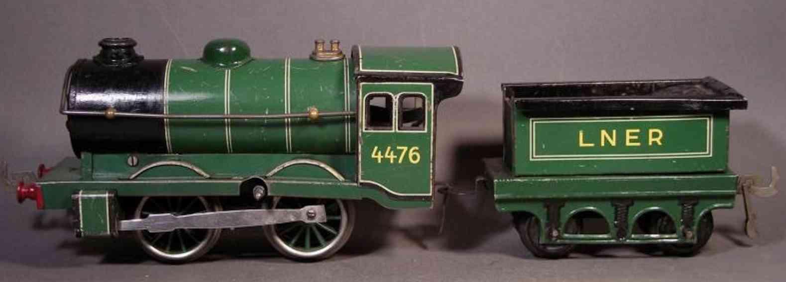 bub 940 lt railway toy engine english clockwork steam locomotive gauge 0