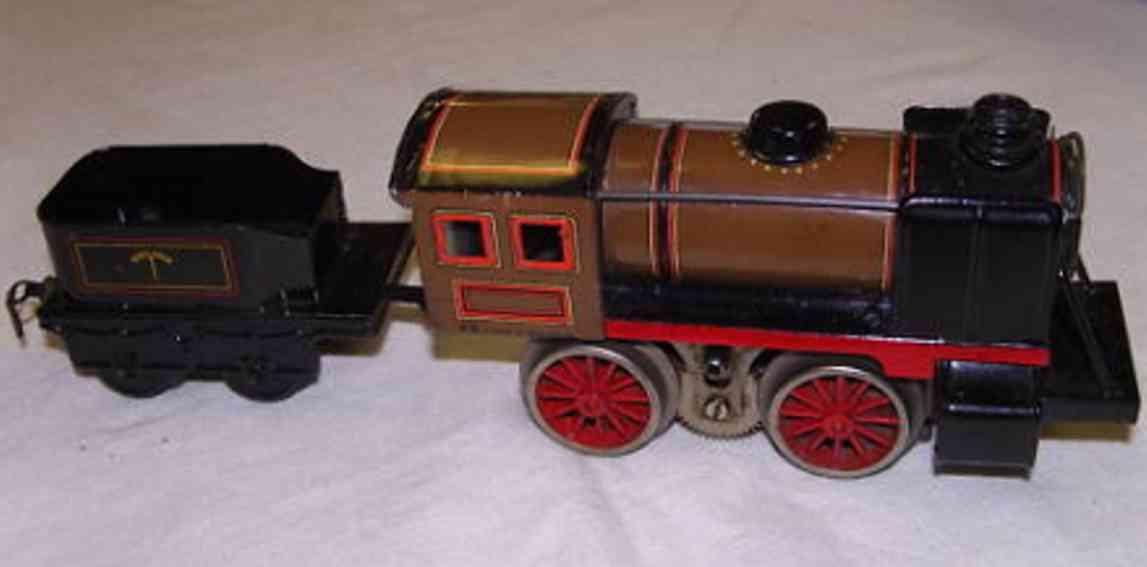 bub 9670/18 railway toy engine steam locomotive gauge 0