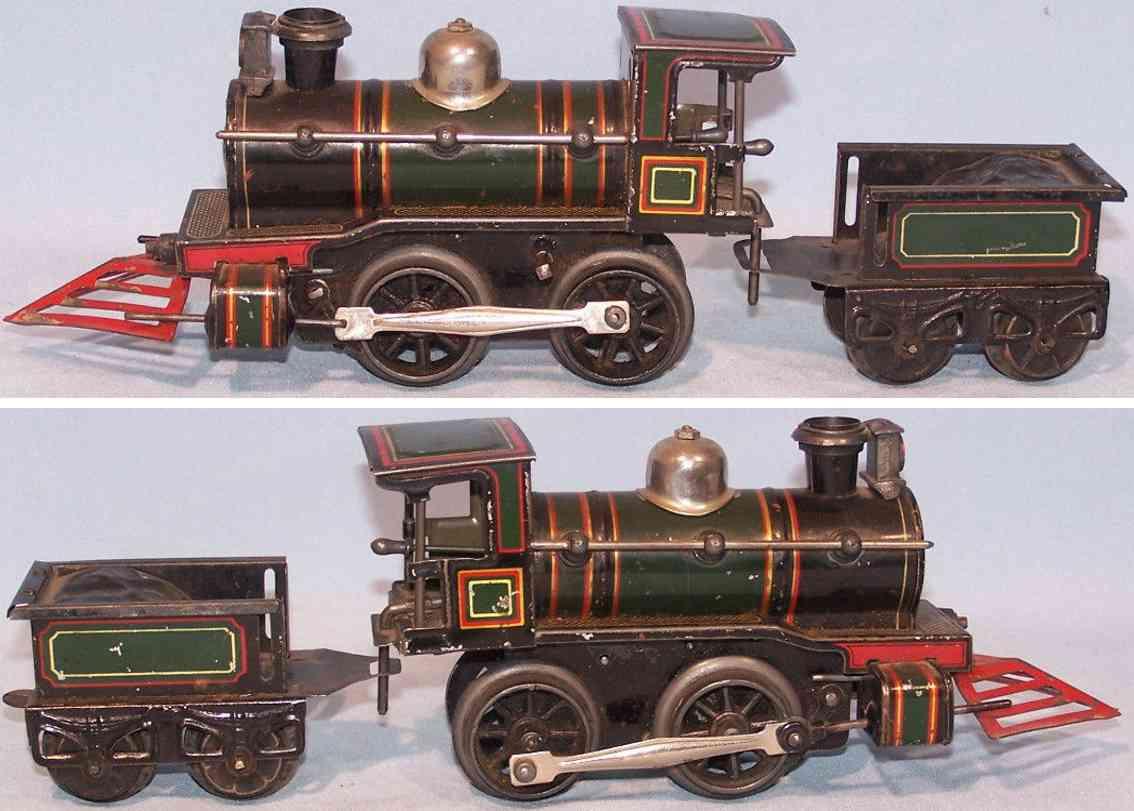 bub spielzeug eisenbahn dampflokomotive mit tender spur 0