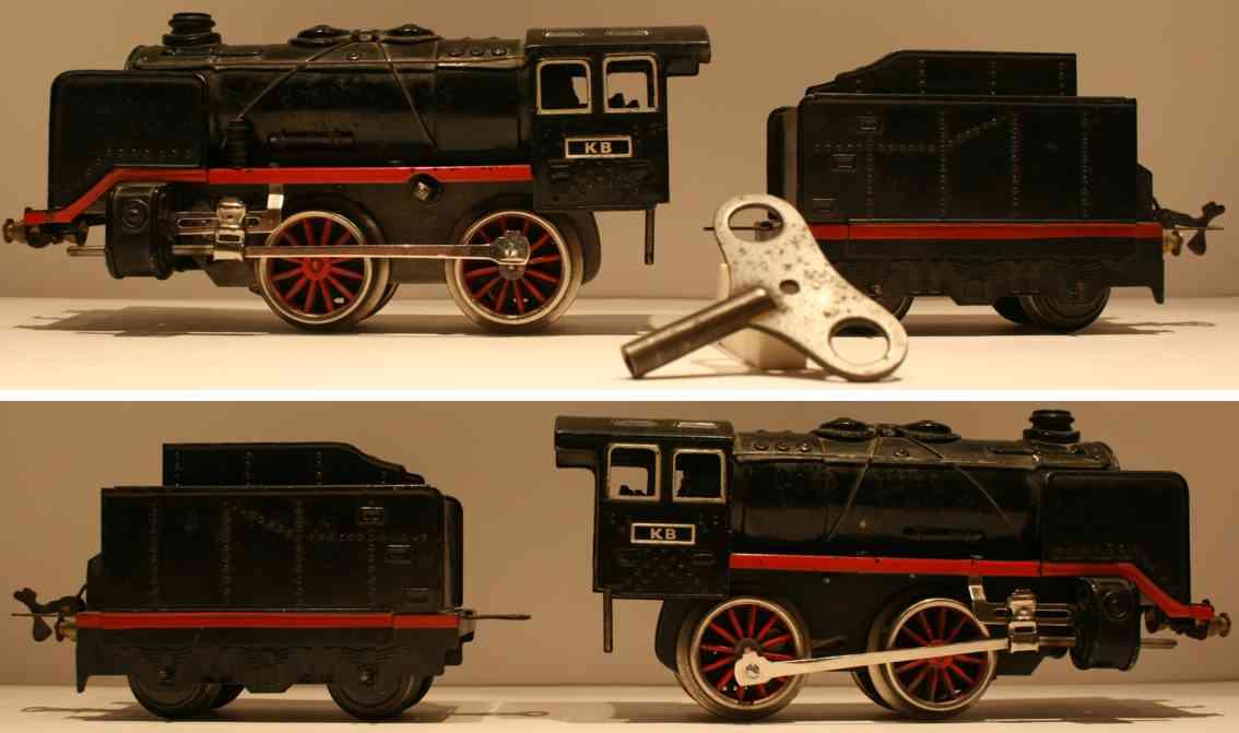 bub railway toy engine steam locomotive clockwork gauge 0