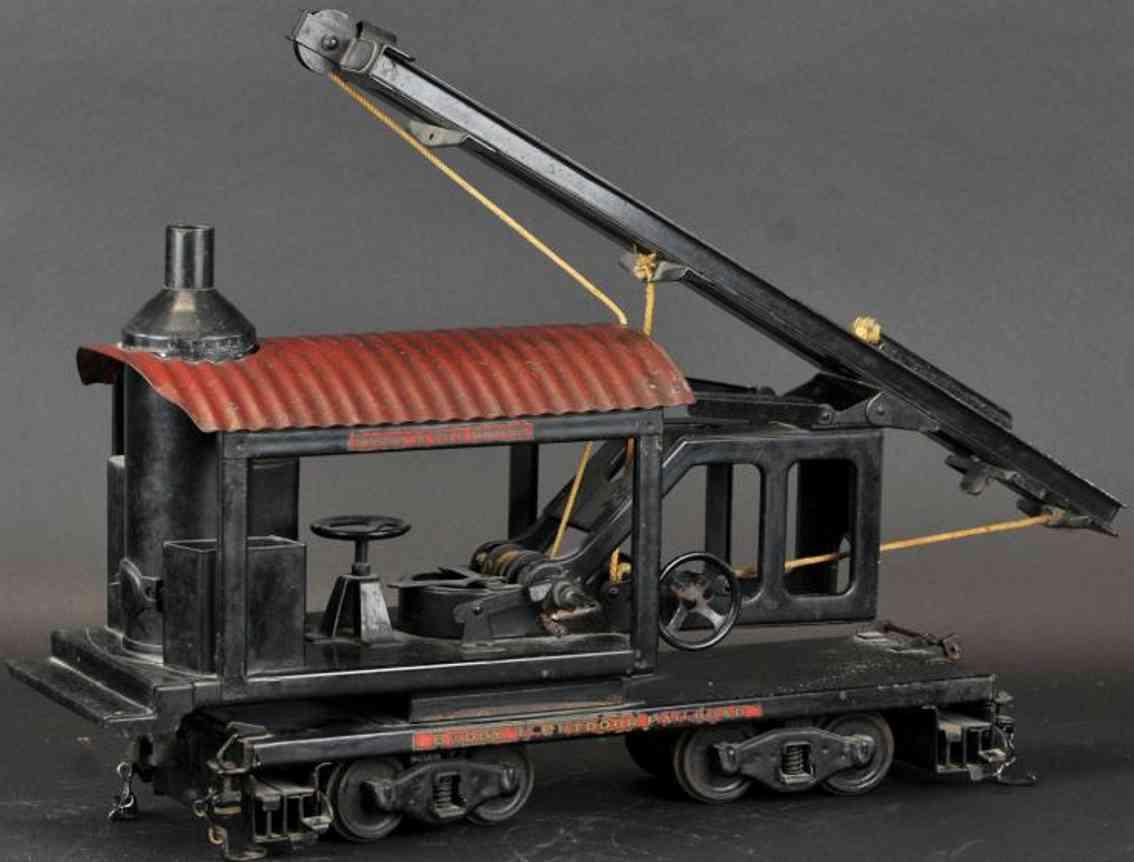 buddy l 1022 spielzeug lokomotive pfahlramme schwarz rot