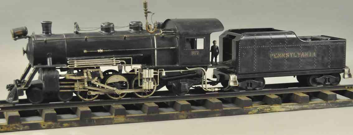 buddy l spielzeug eisenbahn dampfbetriebene lokomotive tender schwarz