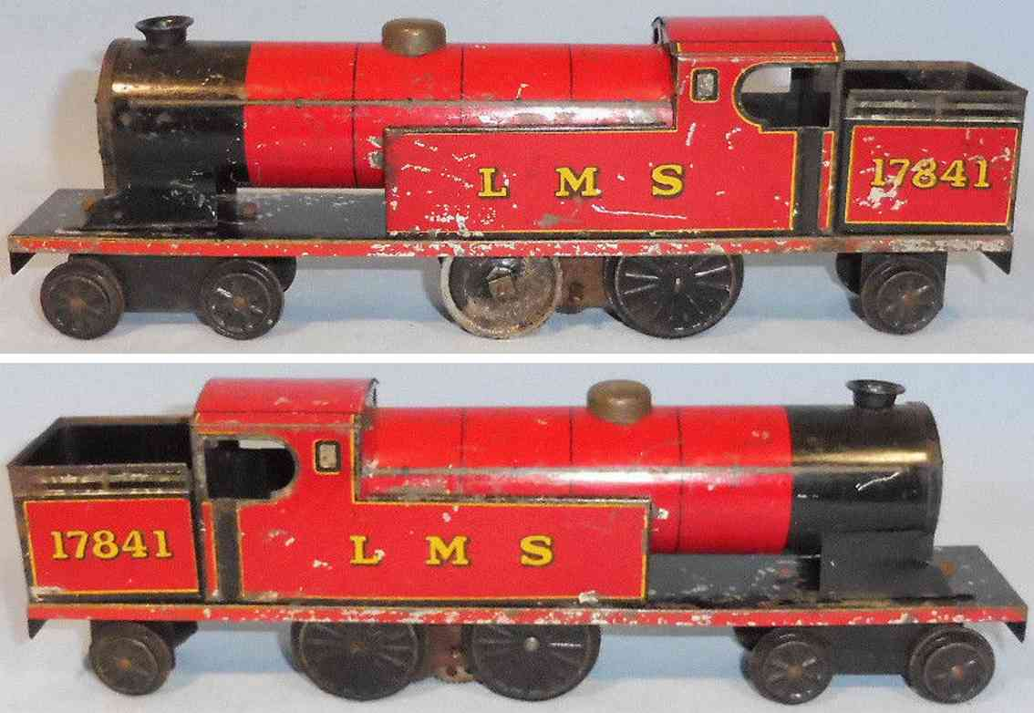burnett ltd 17541 lms table railway locomotive fixed tender clockwork