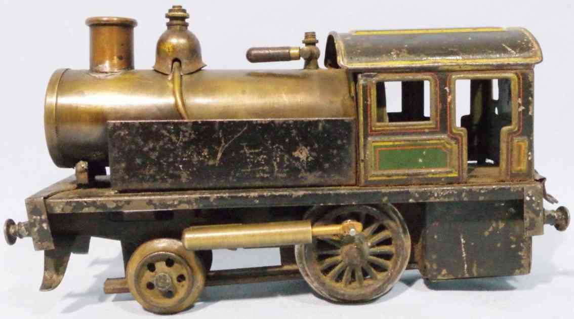 carette 0/35 spielzeug eisenbahn a-1 spiritus-tenderlokomotive gruen schwarz spur 0