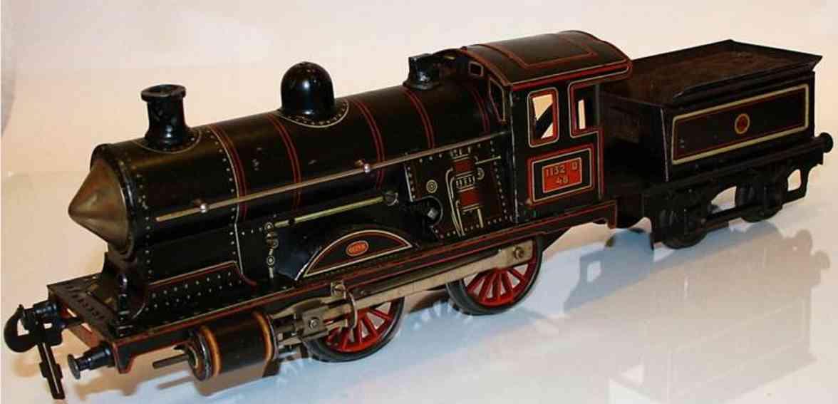 carette 952/d48 spielzeug eisenbahn dampflokomotive tender spur 1