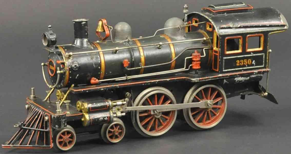 carette 965/48 spielzeug eisenbahn uhrwerk-dampflokomotive schwarz spur 1