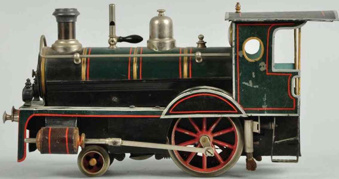 Carette Storchenbein Spiritusdampflokomotive