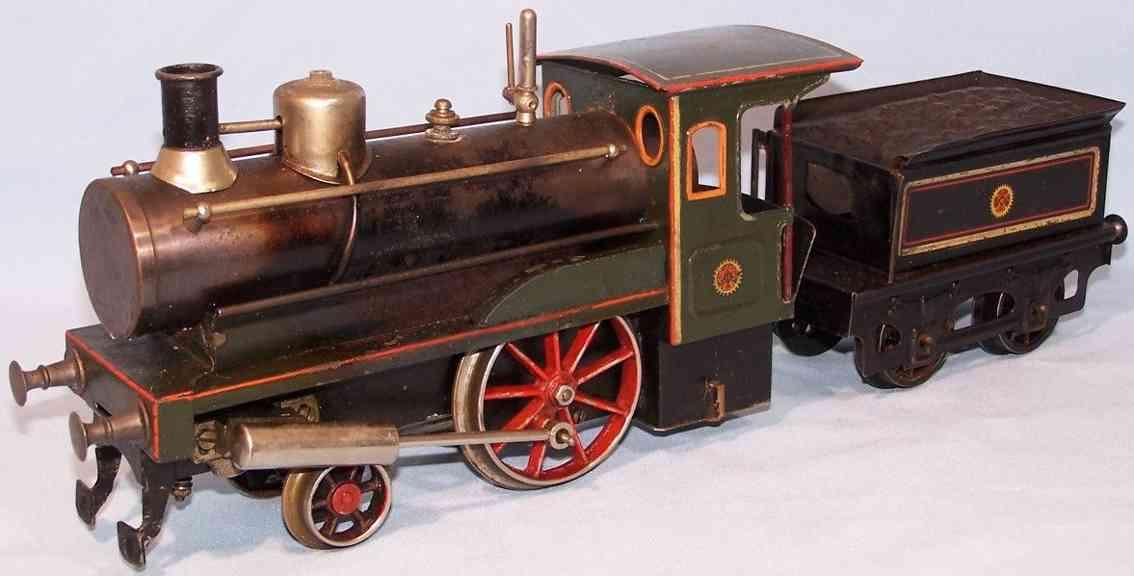 carette spielzeug eisenbahn dampflokomotive mit tender