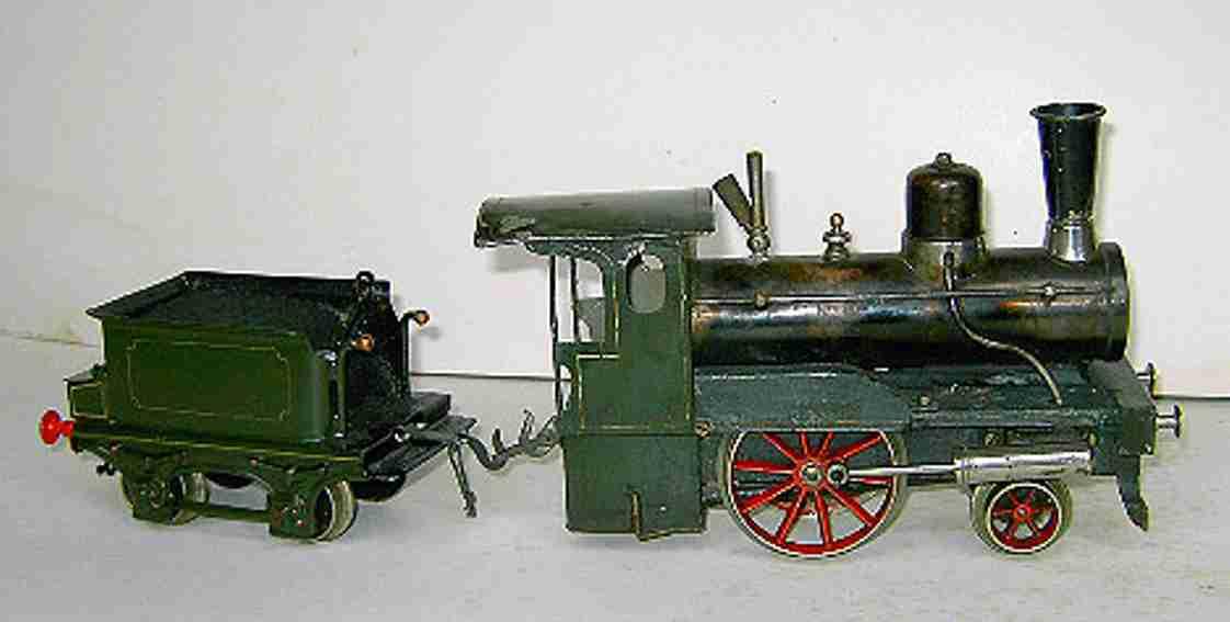 carette spielzeug eisenbahn lokomotive storchenbein spirituslokomotive handlackiert
