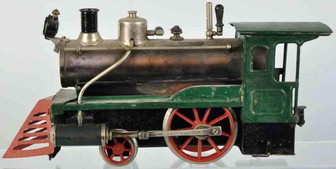 carette spielzeug eisenbahn amerikanische echtdampf-lokomotive mit kuhfaenger spur 1