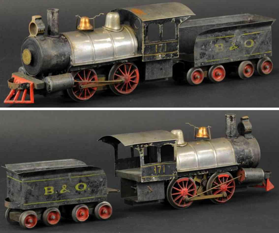 carlisle & finch 171 spielzeug eisenbahn lokomotive mit tender spur 2 inches