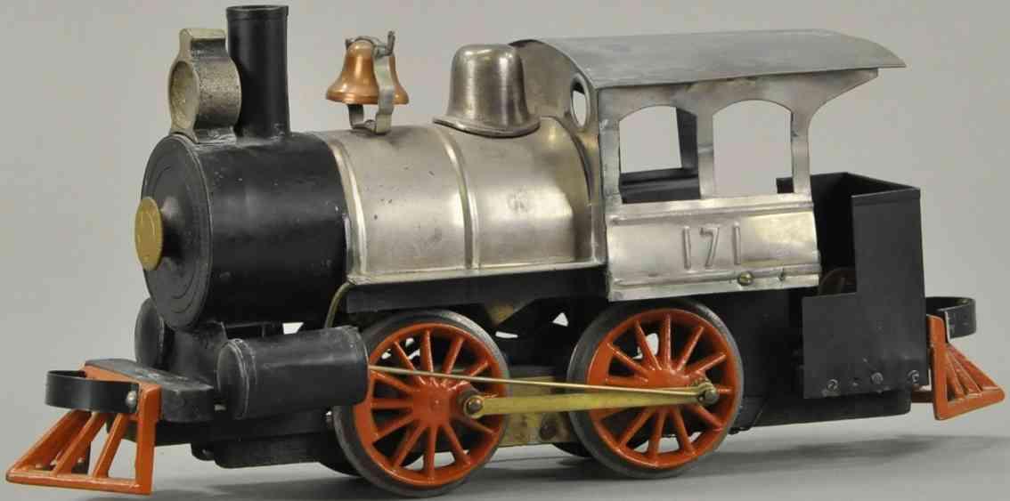carlisle & finch 171 spielzeug eisenbahn rangierlokomotive nickel schwarz