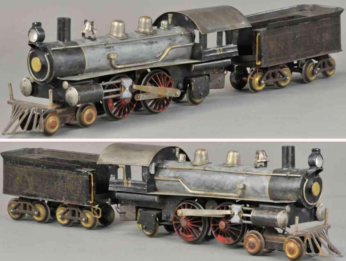 carlisle & finch  45 eisenbahn lokomotive verzinkt messing